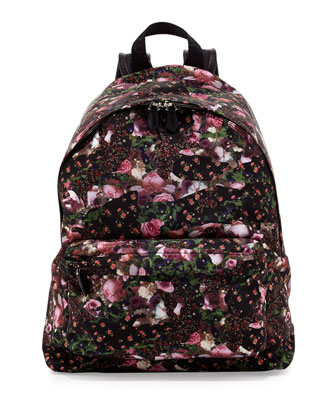 Men's Floral Nylon Backpack