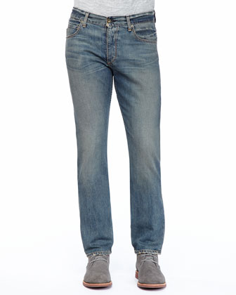 Big Dagger Crew Sweater & Indigo Wash Denim Jeans