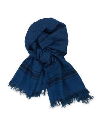 Men's GG Stripe Scarf, Blue