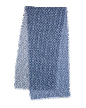 Lightweight GG Scarf, Blue