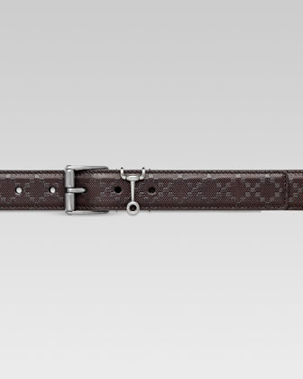 Diamante Leather Belt, Brown