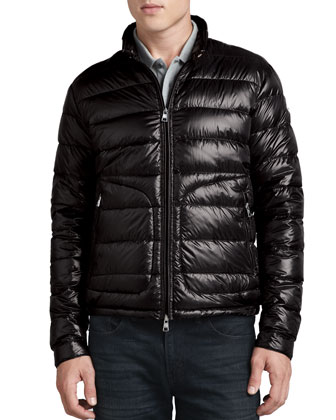 Acorus Lightweight Puffer Jacket, Black