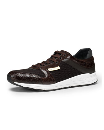 Ipanema Croc-Trim Sneaker, Brown