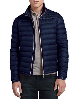 Daniel Lightweight Puffer Jacket, Dark Navy