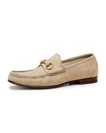 Roos 1953 Suede Horsebit Loafer, Tan