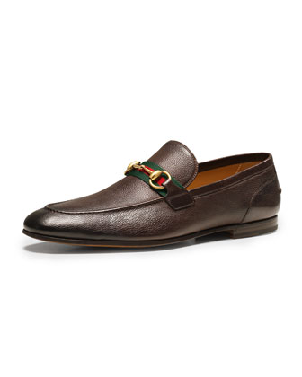 Elanor Leather Horsebit Loafer, Brown