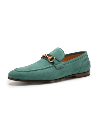 Elanor Suede Horsebit Loafer, Green