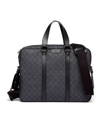 GG Supreme Canvas Briefcase, Black