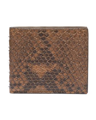 Python Bi-Fold Wallet, Brown