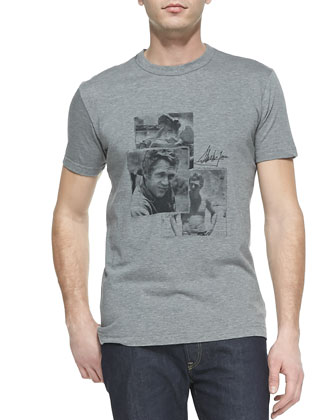 Steve McQueen Graphic Tee, Gray
