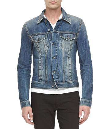 4-Pocket Jean Jacket, Blue