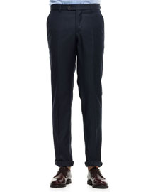 Wool Militaire Pants, Dark Gray