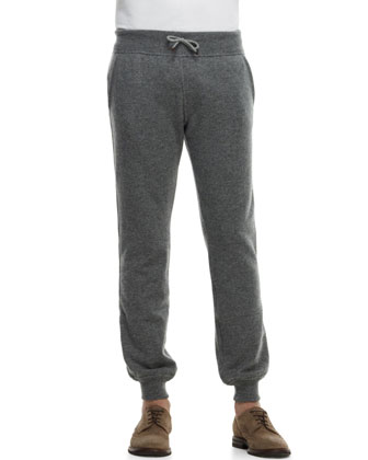 Cashmere Cuffed Track Pants