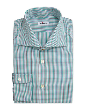 Tattersall Woven Dress Shirt, Green