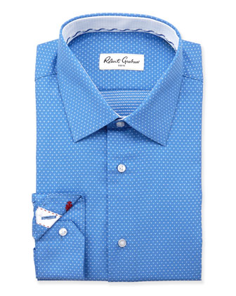 Clarence Pindot Dress Shirt, Blue