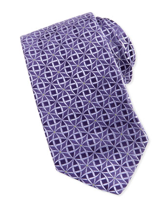 Circle Jacquard Tie, Purple