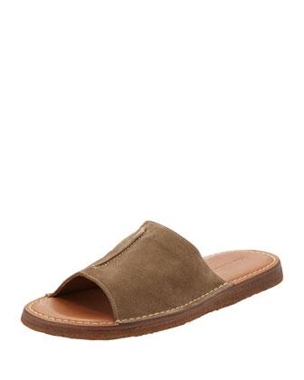 Newton Slide Suede Sandal, Tan