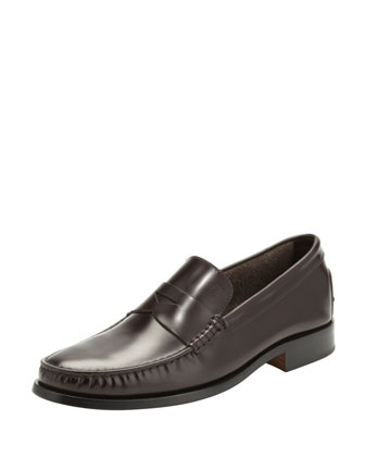 Devon Leather Penny Loafer, Bordeaux