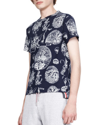 Nautical-Print Crew T-Shirt