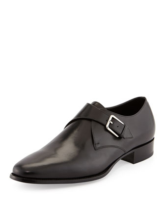 New Blake Single-Monk Loafer, Black
