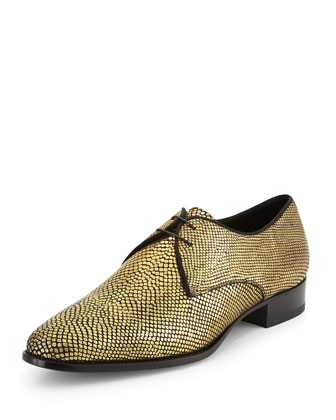 New Blake Metallic Derby Shoe, Gold