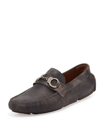 Brogan Men's Suede Handcuffs Driver, Gray