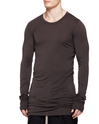 Basic Long-Sleeve T-Shirt, Dark Dust