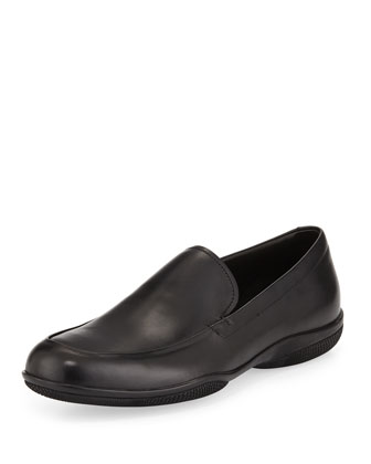 Venetian Soft Calfskin Loafer, Black