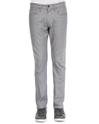 Kane Stretch Raw Silver Jeans