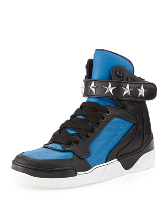 Tyson Stars High-Top Sneaker, Blue/Black