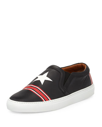 Star and Stripes Printed Skate Shoe