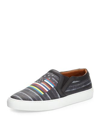Flag-Print Skate Shoe