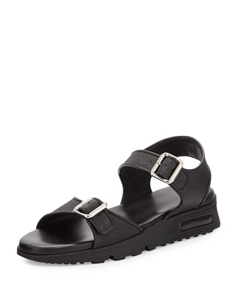 Buckled Double-Strap Sandal