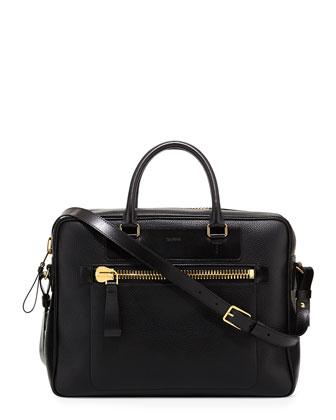 Buckley Side-Zip Briefcase, Black