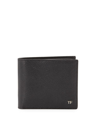 TF Leather Bi-Fold Wallet, Black
