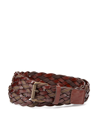 Braided Leather Belt, Military