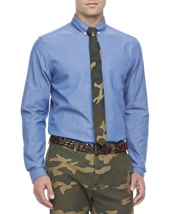 Button-Down Oxford Shirt, Blue