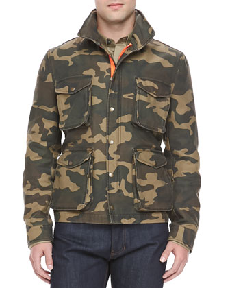 Camo-Print Field Jacket