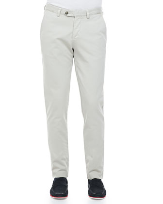 Garment Dyed Chino Pants, Beige Stone
