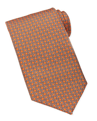 Circle-Rope Silk Tie, Orange