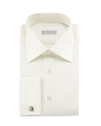 Double-Striped French-Cuff Dress Shirt