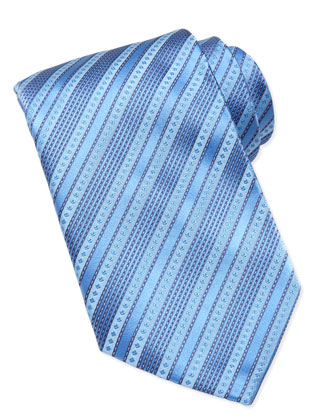 Multi-Stripe Silk Tie, Lavender