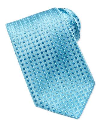 Tonal Dot Tie, Teal