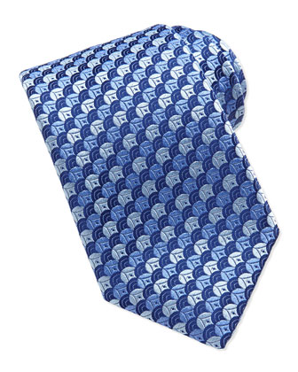 Overlapping Circles Tie, Blue