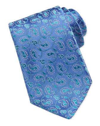 Paisley Swirl Tie, Blue/Green