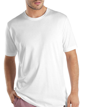 Cotton Crewneck Tee, White