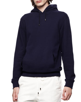 Hooded Knit Pullover Sweatshirt