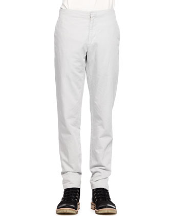 Flush-Pocket Twill Trousers