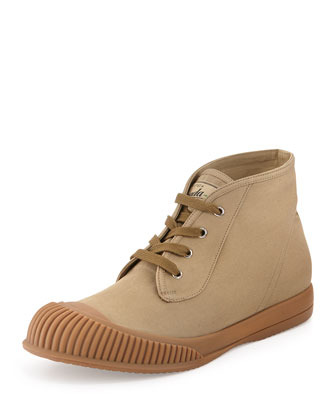 Rubber-Toe Chukka Boot, Khaki