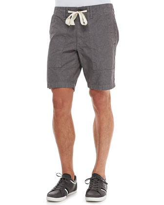 Chambray Board Shorts, Gray